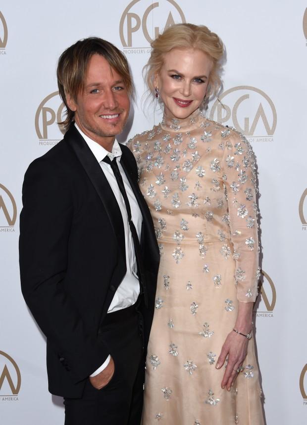 Nicole Kidman e Keith Urban em premiação em Los Angeles, nos Estados Unidos (Foto: Chris Delmas/ AFP)
