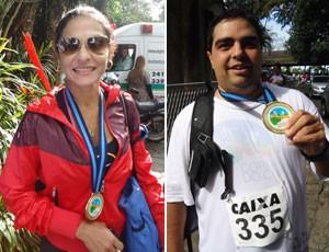 Corrida do Cristo 2012 - Cristiane Sousa Braga e Rodrigo D'Antônio (Foto: Luiz Cláudio Amaral / Globoesporte.com)