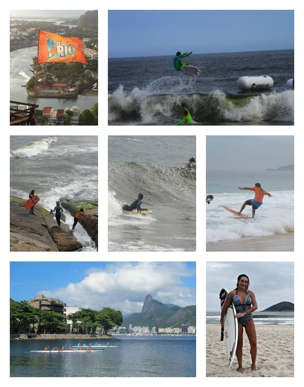 Nas Ondas do Rio montagem (Foto: GLOBOESPORTE.COM)