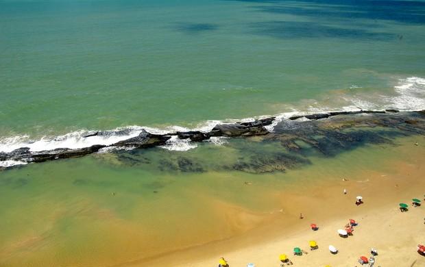 Vista para a praia da Boa Viagem hotel da seleção espanha (Foto: Victor Canedo)