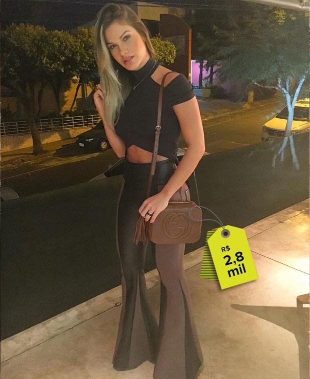 Andressa Suita usa bolsa e R$2,8 mil (Foto: Reprodução do Instagram)