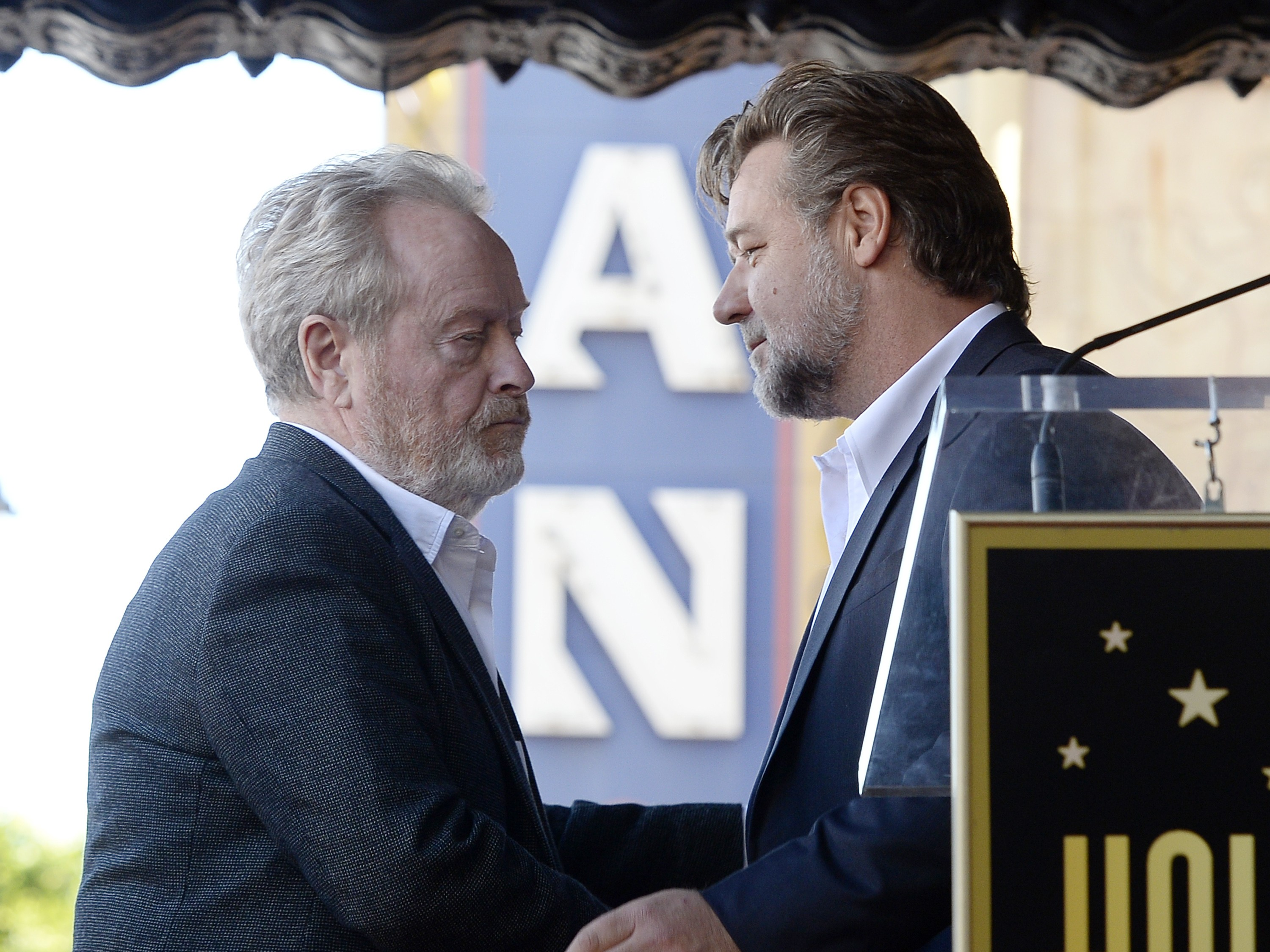 Ridley Scott e Russell Crowe (Foto: Getty Images)