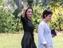 Angelina Jolie faz primeira aparição pública após divórcio de Brad Pitt