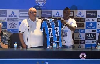 Fã de Michael Jordan, Bolaños é apresentado com a camisa 23 no Grêmio