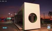 Estrutura nova de ponto de ônibus