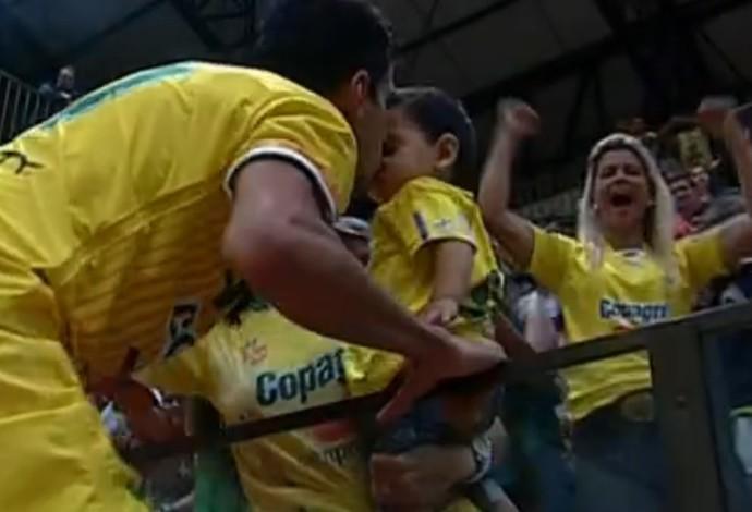 Marechal Rondon x Cascavel, Liga Futsal, Leandrinho (Foto: Reprodução/SporTV)