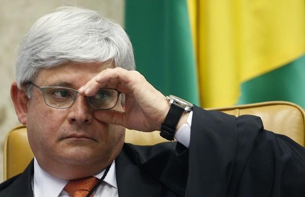 O procurador-geral da República, Rodrigo Janot, durante sessão de julgamento de recursos do mensalão (Foto: Nelson Jr./SCO/STF)