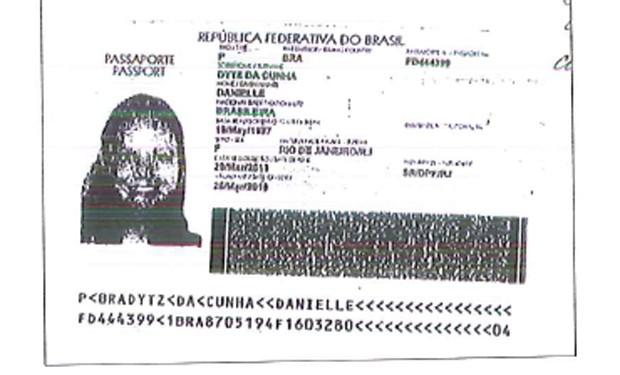 Passaporte da filha de Eduardo Cunha foi anexado à documentação para abertura de conta no exterior, da qual ela é beneficiária (Foto: Reprodução)