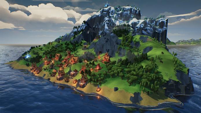 Gerencie uma ilha e mostre que você é honrado suficiente para Odin (Foto: Divulgação/Daedalic Entertainment)