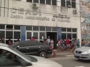 Cerca de 400 pessoas foram desligadas, segundo funcionários (Foto: Reprodução/TV Santa Cruz)