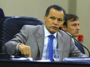 Silval Barbosa (PMDB) foi ouvido na CPI da Copa (Foto: Fablicio Rodrigues/ALMT)