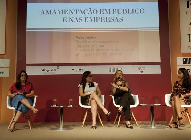 O segundo dia do evento teve discussões como a amamentação em público e nas empresas (Foto:  Adriana Lorete/ Agência O Globo)