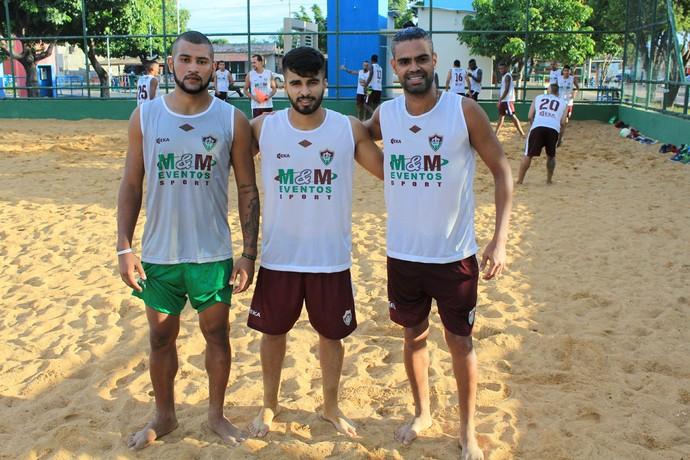 Uanderson, Rian e Júlio. novos e veteranos no Campeonato Roraimense  (Foto: Imagem/Tércio Neto)