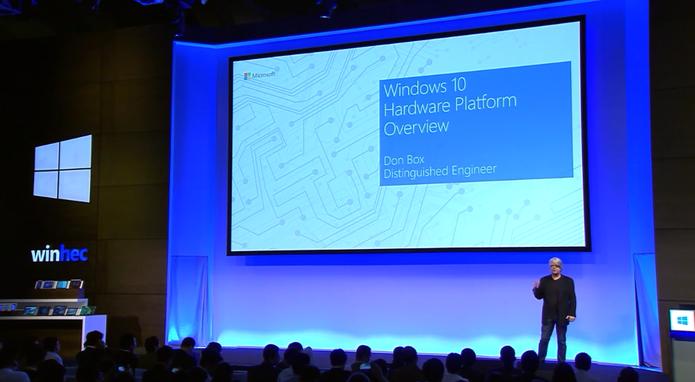 Don Box, engenheiro da Microsoft, revela detalhes no WinHEC (Foto: Reprodução/Microsoft)