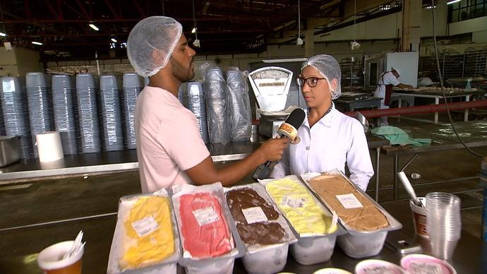 Nutricionista dá dicas de como tomar sorvete de maneira saudável (Foto: TV Bahia)