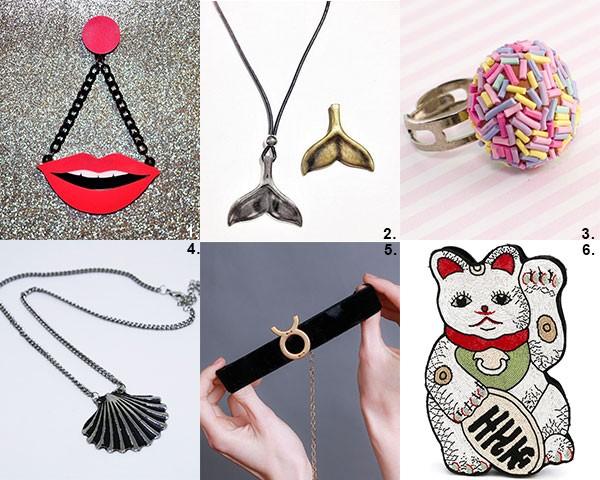 Brincos, colares e bolsas podem levar o mood fun para o seu look (Foto: Divulgação)