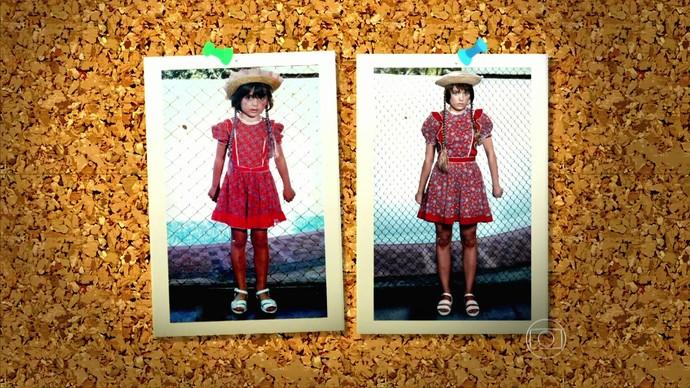 Monica Iozzi recria foto de infância no Caldeirão do Huck (Foto: TV Globo)