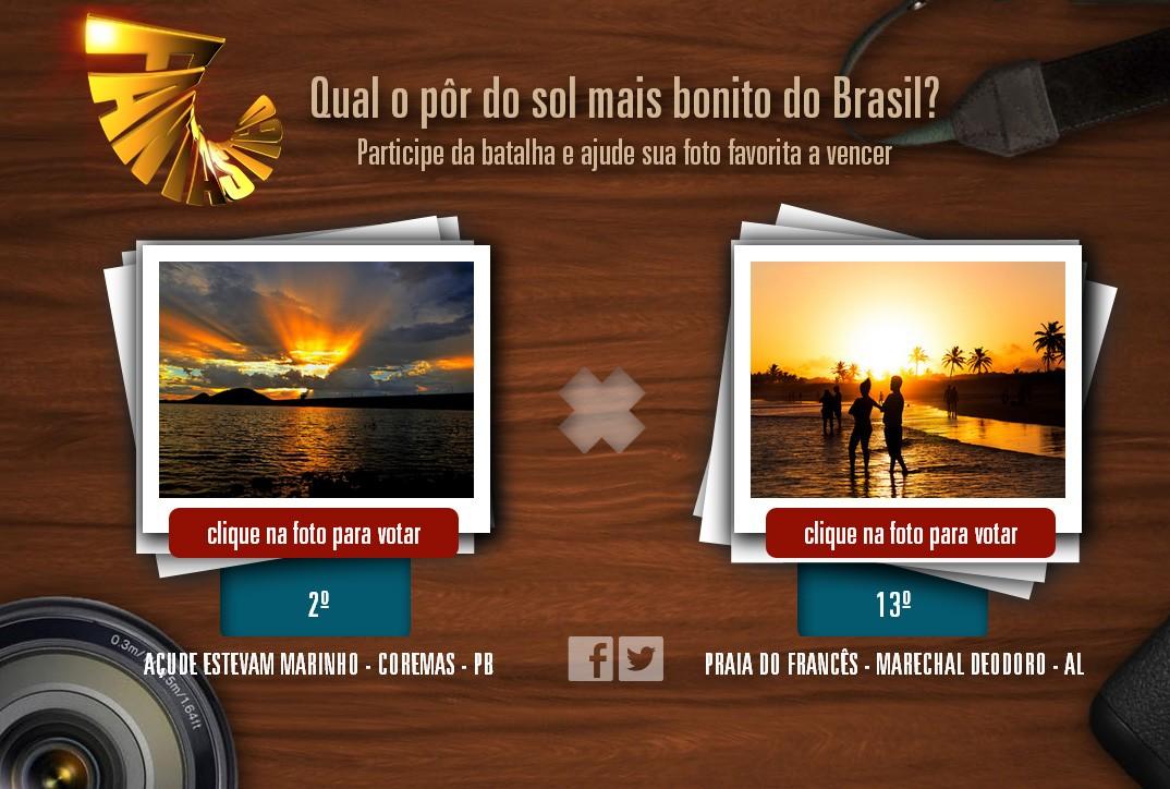 Batalha acontece no site do Fantástico (Foto: Reprodução)