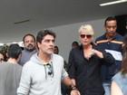 Xuxa vai com Junno ao velório do pai de Cazuza no Rio
