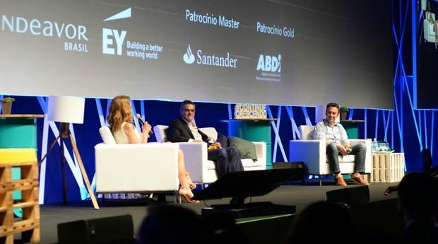 Edgard Corona, fundador e CEO do Grupo Bio Ritmo, e Marcio Kumruian, fundador e CEO da Netshoes, no Scale-Up Summit (Foto: Divulgação/Endeavor)
