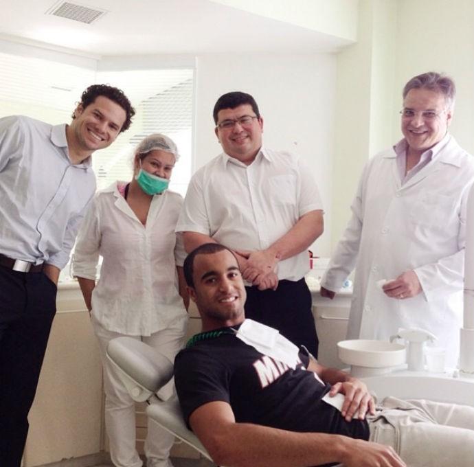 Lucas no dentista (Foto: Reprodução Instagram)