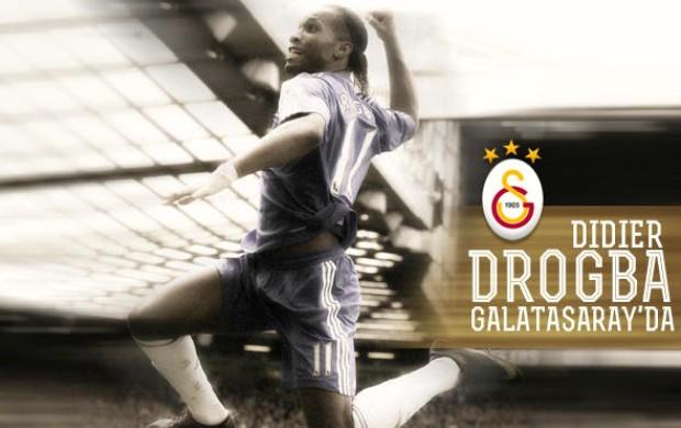 Cartaz Drogba Galatasaray (Foto: Reprodução / Site Oficial)