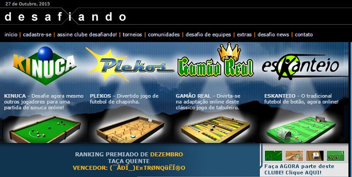 Sites de jogos, como o Kinuca, eram bem famosos (Foto: Reprodução/Thiago Barros)