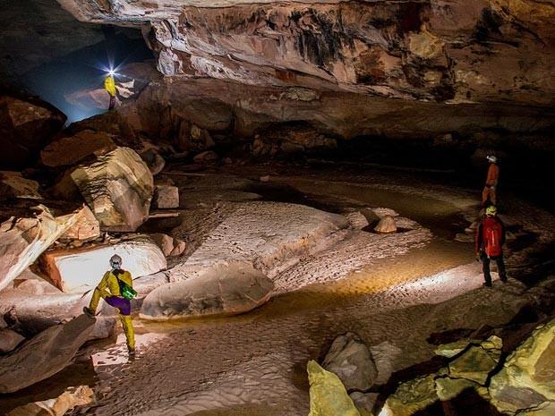 Caverna de Imawarí Yeutá, descoberta na Venezuela (Foto: Divulgação/La Venta, Theraphosa/via BBC)