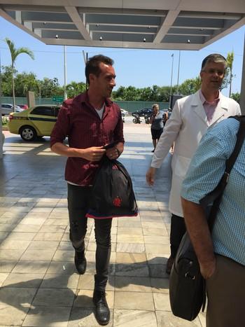 Mancuello Flamengo exames (Foto: Felippe Costa)
