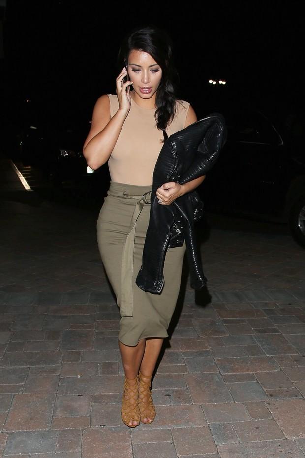 X17 - Kim Kardashian em Nova York, nos Estados Unidos (Foto: X17online/ Agência)