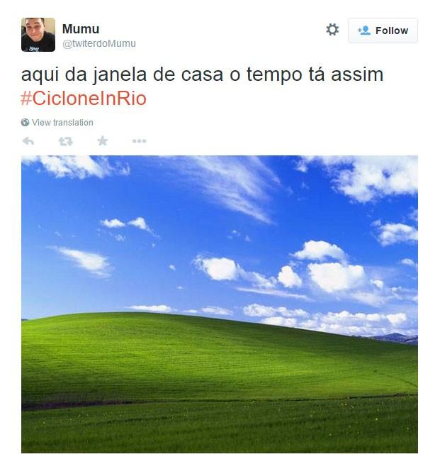 Chuva no Rio 7 (Foto: Reprodução/Twitter)