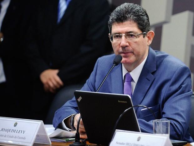 Ministro Joaquim Levy fala no Senado nesta terça-feira (Foto: Edilson Rodrigues/Agência Senado)