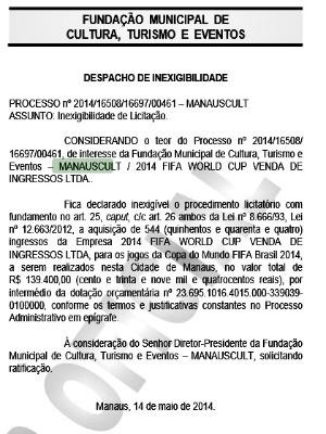 Autorização da compra foi publicada no Diário Oficial do Município (Foto: Reprodução/DOM)