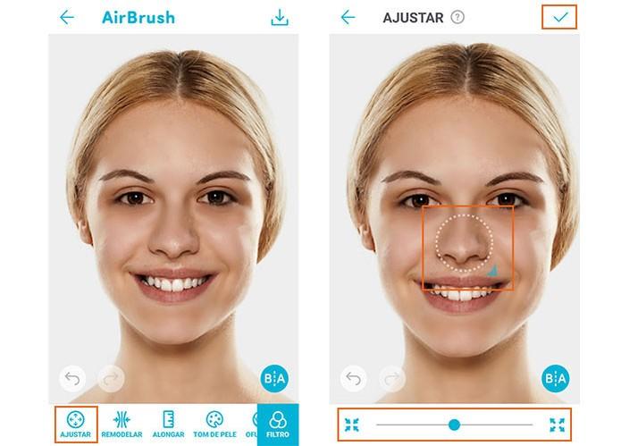 Ajuste medidas no rosto e afine o que precisar com o Airbrush (Foto: Reprodução/Barbara Mannara)