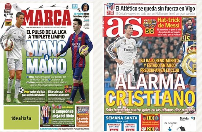 jornais as marca barcelona real madrid (Foto: Reprodução)