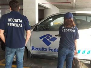 Receita Federal participou de cumprimento de mandados em Salvador (Foto: Divulgação/ Receita Federal)
