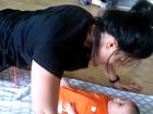 Suzana Alves faz ginástica com o filho de três meses: 'Aula com a mamãe'