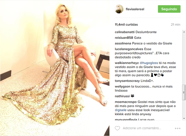 Fãs comentam foto de Flávia Alessandra (Foto: Reprodução/Instagram)