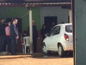 Reconstituição caso Madalena e neto (Foto: Gabriela Pavão/ G1 MS)