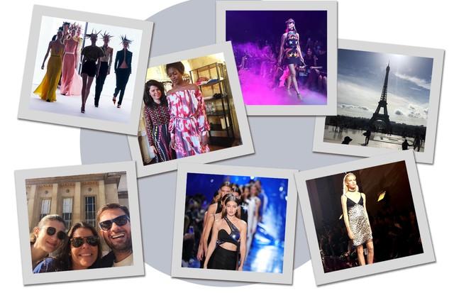 O sábado do Vogue team na PFW (Foto: Arte Vogue Online)
