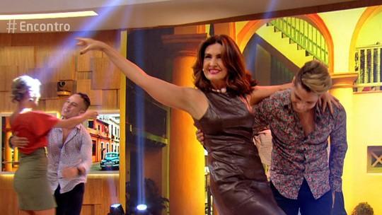 Fátima Bernardes e Fernanda de Freitas se jogam na salsa no 'Encontro'; fotos dos bastidores