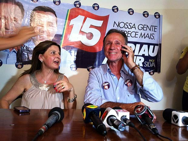 Paulo Piau em entrevista coletiva após vitória  (Foto: Paulo Borges/G1)