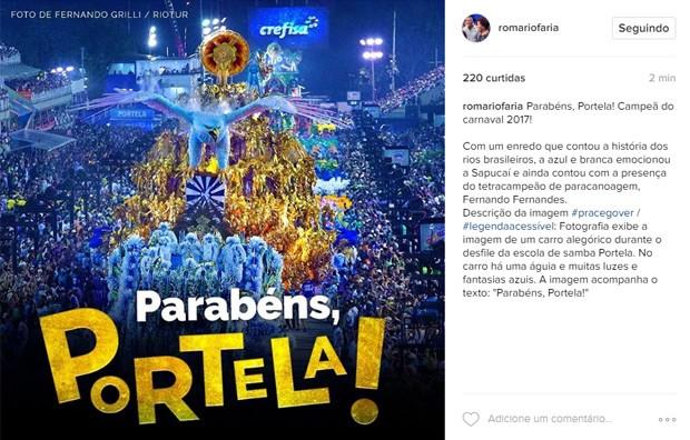 Romário (Foto: Reprodução / Instagram)