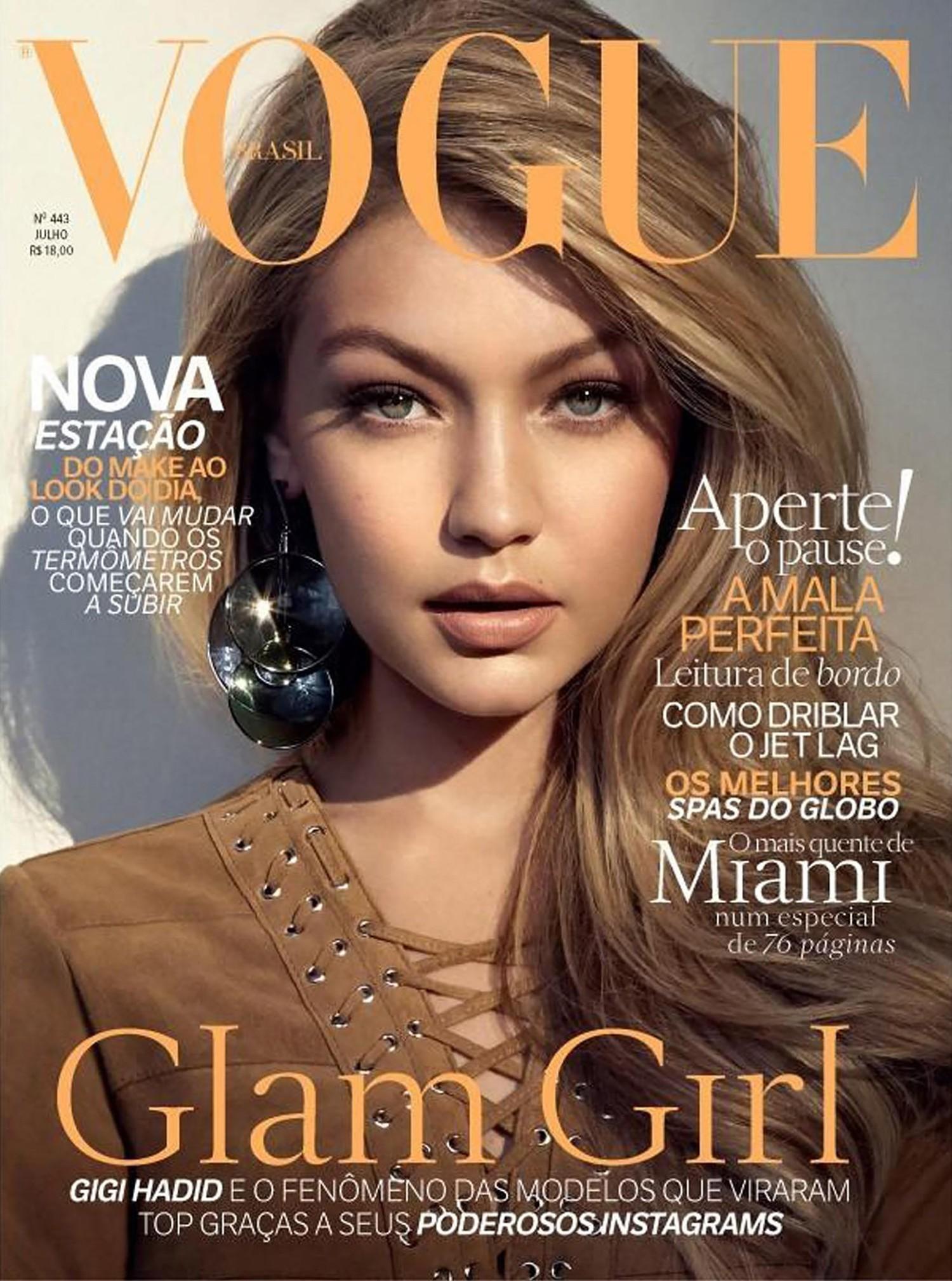 Capas da Vogue com Gigi Hadid  (Foto: Reprodução)