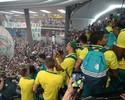 Manifestação de apoio da torcida emociona jogadores do Palmeiras