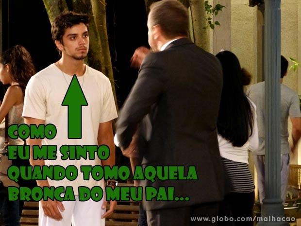 Olavo diz que não vai apoiar Bruno...  (Foto: Malhação / TV Globo)