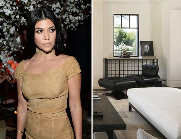 Kourtney Kardashian revela sua sala de estar com poltrona de Niemeyer (Foto: Getty Images)