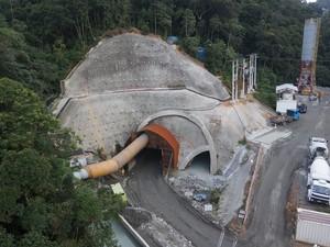 Desemboque do túne na Serra de Petrópolis (Foto: Divulgação/Concer)