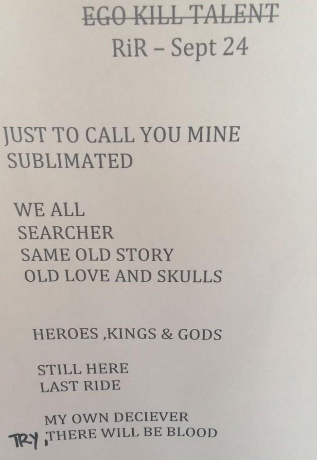 Setlist do primeiro show do Palco Sunset neste domingo, 24 (Foto: Reproduo)