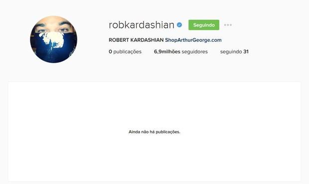 Rob Kardashian deleta fotos do Instagram (Foto: Reprodução/Instagram)